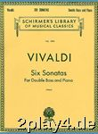 Antonio Vivaldi: Six Sonatas For Double Bass And Piano. Für... #78248