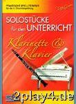Solostuecke Fuer Den Unterricht. Klarinette, Klavier