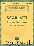 Alessandro Scarlatti: Three Sonatas For Cello And Piano. Fü... #61557