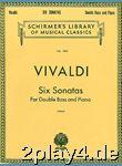 Antonio Vivaldi: Six Sonatas For Double Bass And Piano. Für... #78248