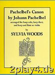 Johann Pachelbel: Pachelbel's Canon (Harp). Für Harfe, Quer... #75027