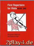 First Repertoire For Viola Book One. Für Bratsche, Klavierb... #54556